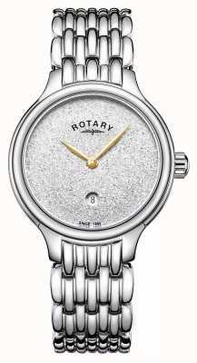 Rotary Damski blask błyszczący ze stali nierdzewnej LB00405/33