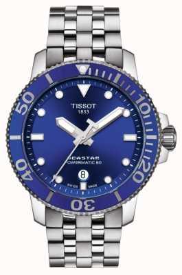 Tissot Seastar 1000 powermatic 80 niebieska tarcza ze stali nierdzewnej T1204071104100