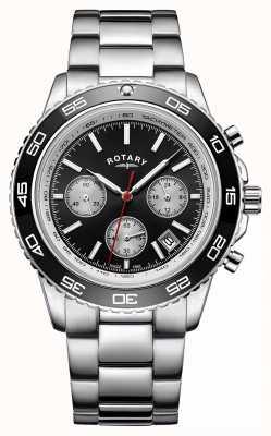 Rotary Męski datownik chronografu wyświetla tachymetr ze stali nierdzewnej GB00410/04