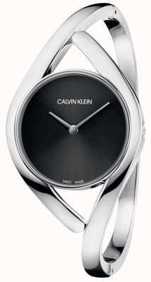 Calvin Klein Zegarek bangle damski czarny tarcza K8U2M111