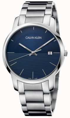 Calvin Klein Miasto ze stali nierdzewnej bransoleta niebieska tarcza K2G2G14Q
