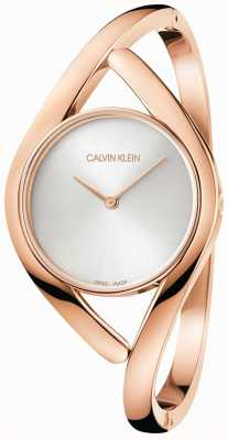 Calvin Klein Różana i srebrna bransoleta ze stali nierdzewnej K8U2S616