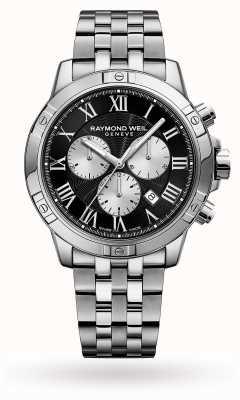 Raymond Weil Tarcza męska ze stali nierdzewnej chronograf czarna 8560-ST-00206
