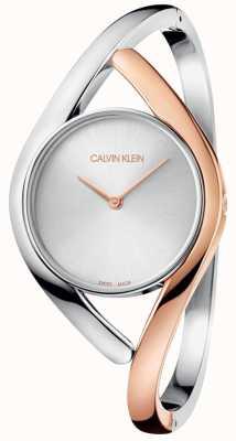 Calvin Klein Dwukolorowa bransoleta ze stali nierdzewnej K8U2MB16