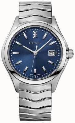 EBEL Męski wyświetlacz daty z niebieską tarczą ze stali nierdzewnej 1216238
