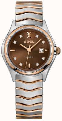 EBEL Damski automatyczny zegar z diamentową tarczą z datownikiem z orzechów laskowych 1216265