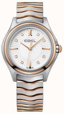 EBEL Damska fala diamentowa sunray wybierana dwukolorowym różowym złotem 1216306