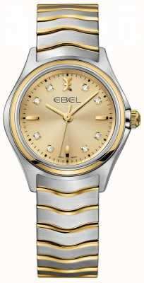 EBEL Diament diamentowy damski wybierany jest w dwóch odcieniach żółtego złota i srebra 1216317
