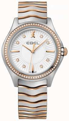 EBEL Damski zestaw diamentowy fala biały wybierania dwukolorowe bransoletki 1216319