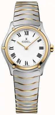 EBEL Damska sportowa, klasyczna, biała, dwukolorowa bransoletka ze stali nierdzewnej 1216387A