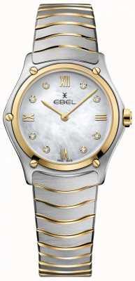 EBEL Damski sportowy klasyczny diament z masy perłowej wybrał dwa odcienie 1216388