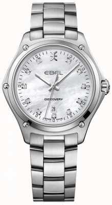EBEL Damski diament odkrywczy z masy perłowej ze stali nierdzewnej 1216394