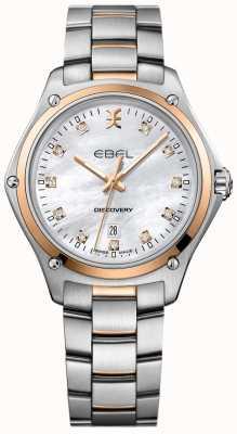 EBEL Damski diament odkrywczy z masy perłowej ze stali nierdzewnej 1216397