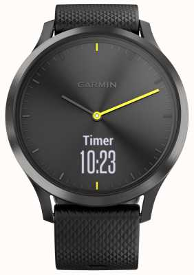 Garmin Vivomove hr Activity Tracker czarne gumowe żółte akcenty 010-01850-01