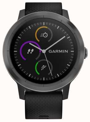 Garmin Vivoactive 3-godzinny multisport tracker z czarną gumową czarną ramką 010-01769-10