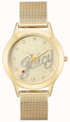 Juicy Couture Damska bransoletka ze srebrnego złota bransoletka z soczystym napisem JC-1032CHGB