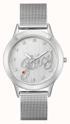 Juicy Couture Bransoletka srebrna bransoletka damska srebrna soczysty zegarek JC-1033SVSV