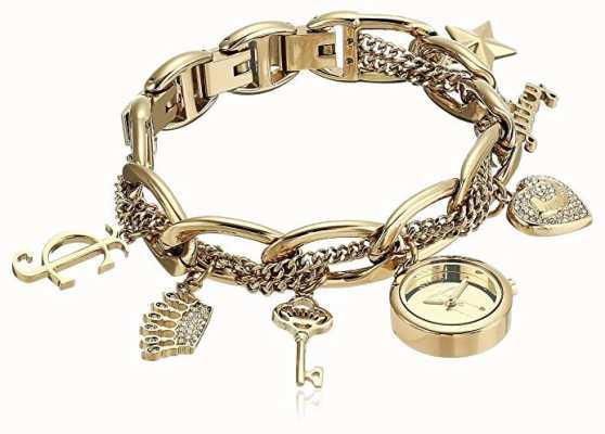 Juicy Couture Damski zegarek ze złotym odcieniem ze stali nierdzewnej JC-1040GPCH