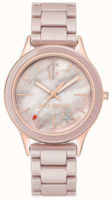 Juicy Couture Zegarek analogowy ze stali damskiej JC-1048TPRG