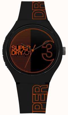 Superdry Urban xl fusion matowy czarny pomarańczowy nadruk SYG239BO