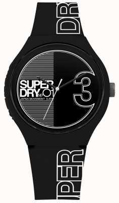 Superdry Urban xl fusion matowy czarno-biały nadruk SYG239BW