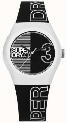 Superdry Fuzja miejska z czarno-białym nadrukiem i paskiem SYL239BW