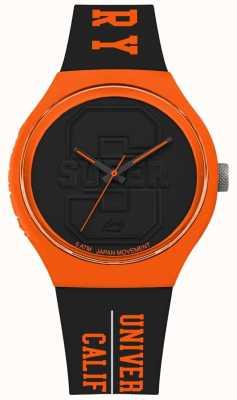 Superdry Urban xl varsity matowa czarna tarcza czarny pasek pomarańczowy SYG240BO