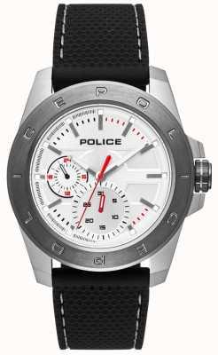 Police Czarny silikonowy pasek w stylu miejskim PL.15527JSTU/04P