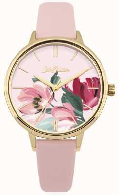 Cath Kidston Damski różowy pasek zegarka kwiatowy tarcza CKL050PG