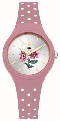 Cath Kidston Damski zegarek anemonowy w kolorze różowego silikonu CKL066P