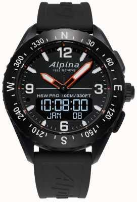 Alpina Czarny pasek z gumy Alpinerx AL-283LBB5AQ6