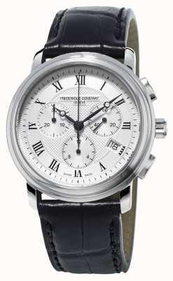 Frederique Constant Męski klasyczny czarny skórzany pasek chronograf FC-292MC4P6