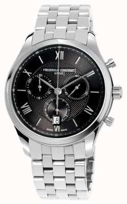 Frederique Constant Klasyczna męska bransoleta chronograf ze stali nierdzewnej FC-292MG5B6B