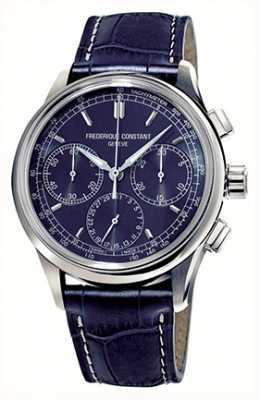Frederique Constant Chronograf męski Flyback produkuje niebieską tarczę FC-760N4H6