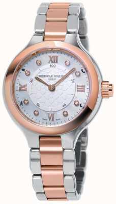 Frederique Constant Kobiecy zegarek z zegarem horoskopu zachwyca dwukolorowym różowym złotem FC-281WHD3ER2B