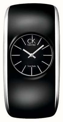 Calvin Klein Błyszczący damski cały czarny mały zegarek K6095101