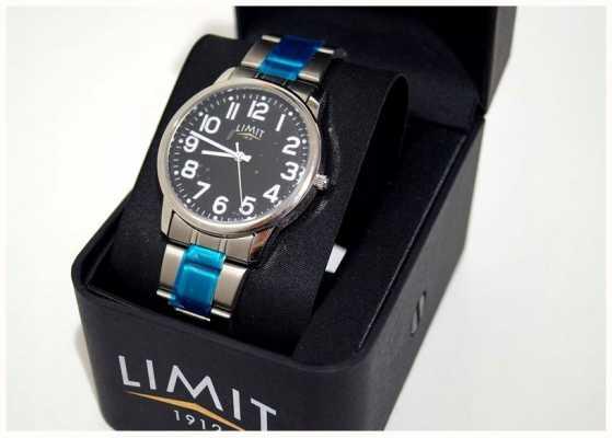 Limit | męskie | czarna tarcza | bransoleta ze stali nierdzewnej | 5648