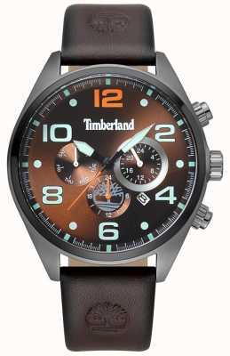 Timberland Mens whitman brązowy skórzany pasek brązowy tarcza TBL.15477JSU/12