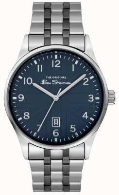 Ben Sherman Męski zegarek matowy | niebieska tarcza | bransoleta ze stali nierdzewnej | BS017USM