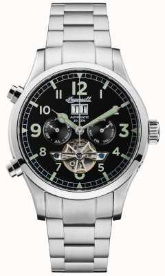 Ingersoll Mens the armstrong automatyczny czarny chrono ze stali nierdzewnej I02103