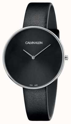 Calvin Klein Czarna, czarna skóra czarna tarcza K8Y231C1