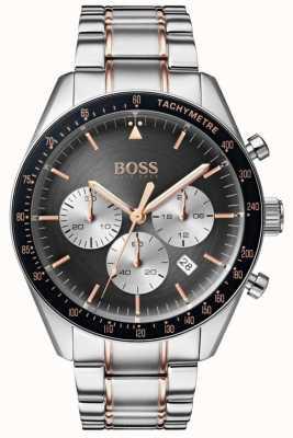 Boss Męski zegarek z trofeum szary chronograf tarcza ze stali nierdzewnej 1513634