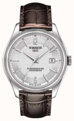 Tissot Ballade powermatic 80 cosc chronometer brązowy skórzany pasek T1084081603700