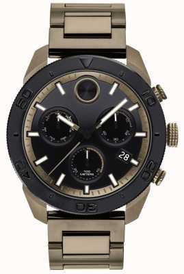 Movado Męski zegarek sportowy z odważnym, posrebrzanym łańcuszkiem 3600513