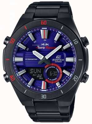 Casio Edifice toro rosso czarny ip plated dzień data ERA-110TR-2AER
