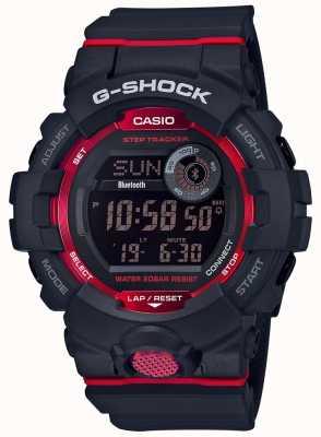 Casio G-squad czarny / czerwony cyfrowy krokomierz bluetooth GBD-800-1ER
