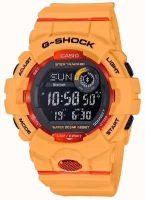 Casio G-squad pomarańczowy cyfrowy krokomierz bluetooth GBD-800-4ER