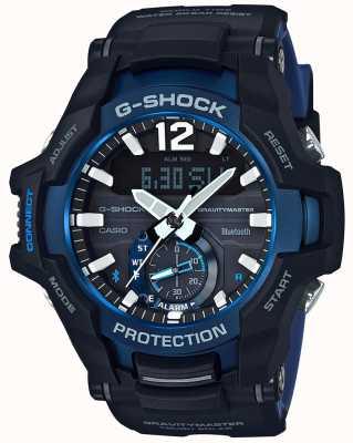 Casio G-shock gravitymaster bluetooth słoneczny czarny / niebieski kauczuk GR-B100-1A2ER