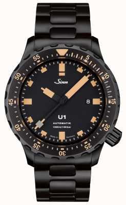 Sinn U1 se czarna bransoletka zegarek tegiment 1010.023 BRACELET