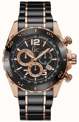 Gc Chronograf męski z czarnym pokrętłem Sportracer Y02014G2